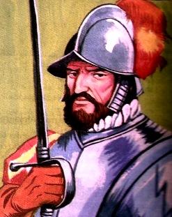 Dibujo de Diego de Almagro con su espada