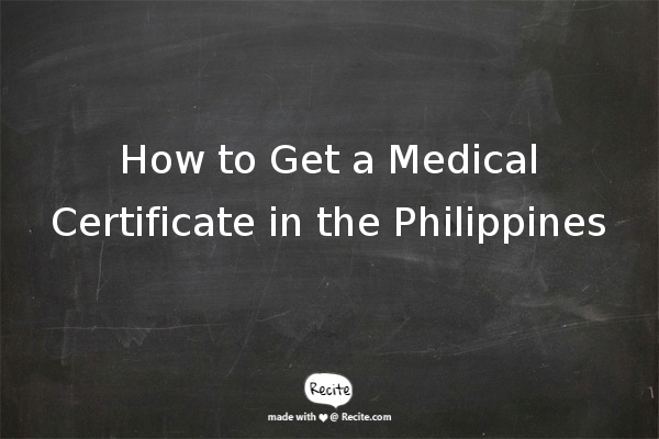 getting a medical certificate