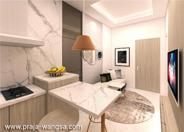 Interior Design Livingroom Apartemen Prajawangsa City