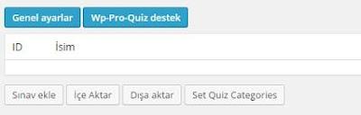 wp pro quiz sınav kuralı oluşturma