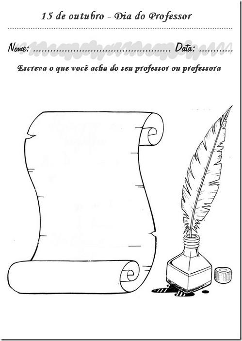 Dia Do Professor Atividades Desenhos Exercicios Pintar Imprimir
