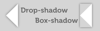 imagen ilustrativa diferencia entre box-shadow y drop-shadow