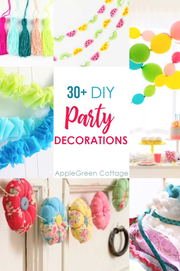 Diy Party 30 Diy Party Decorations Garlands Applegreen Cottage