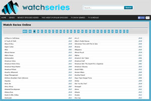 All popular TV series on WatchSeries