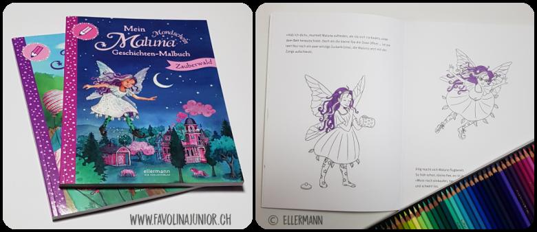 Favolina Und Junior Mein Maluna Mondschein Geschichten Malbuch Zauberwald Geburtstag Von Andrea Schutze Und Tina Kraus
