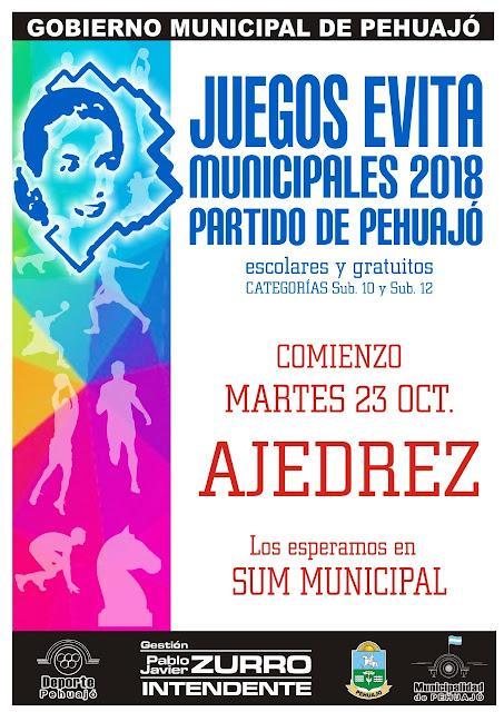 Se aproximan las finales de los Juegos Evita municipales 2018