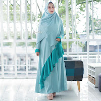 ANDHIMIND Gamis Dress Mutiara Dark Avocado