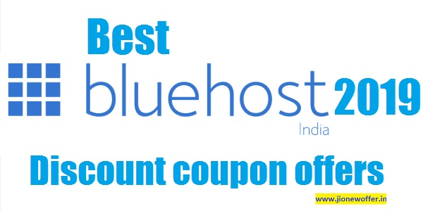 Best Bluehost india discount coupon offers 2019