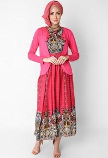 Model baju batik muslim untuk kerja