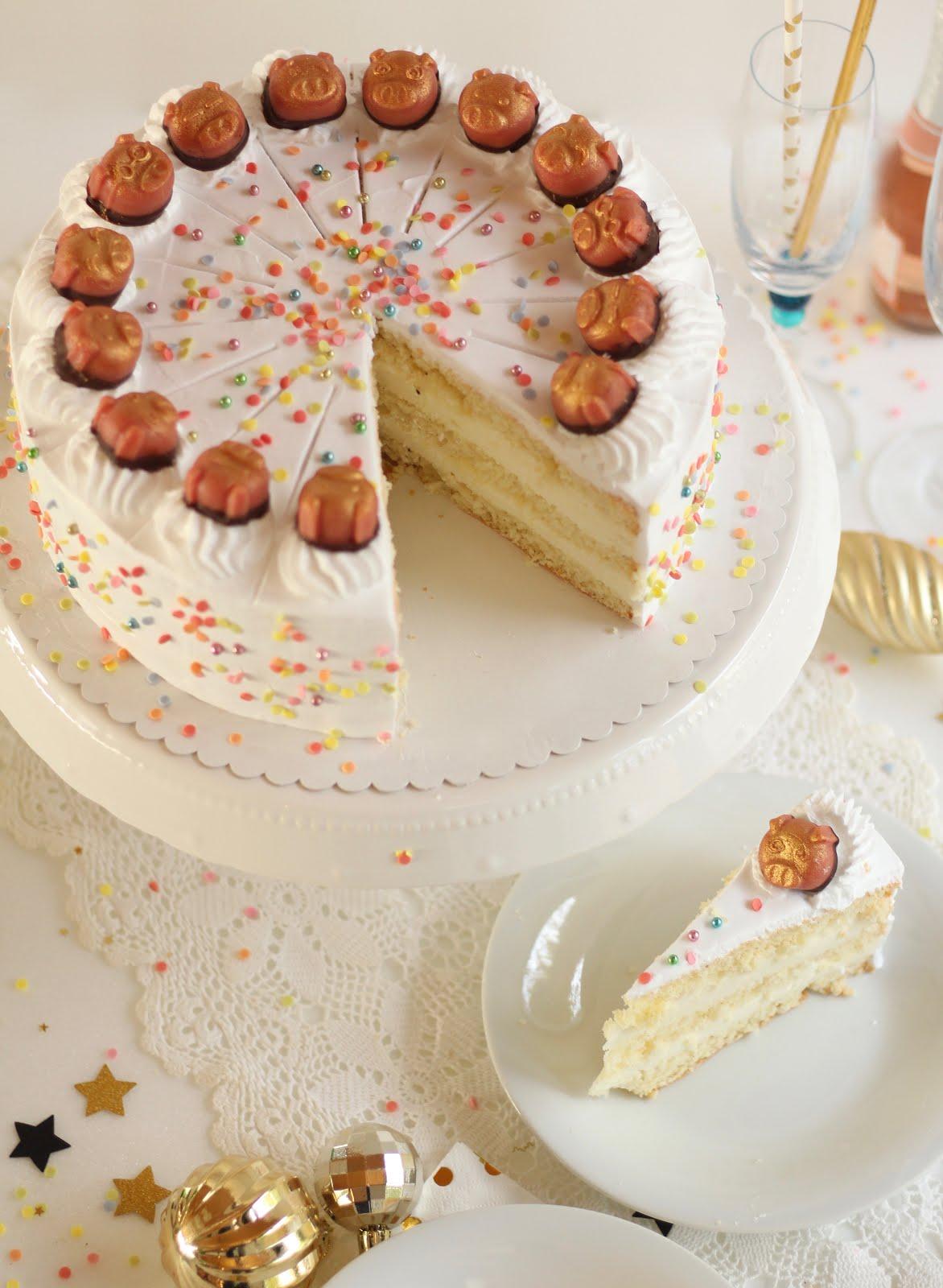 Super leckere Silvester Torte mit Sektcreme - Rezept und Video von Sugarprincess | SCCC 2019: Türchen Nr. 22 | Gewinnspiel