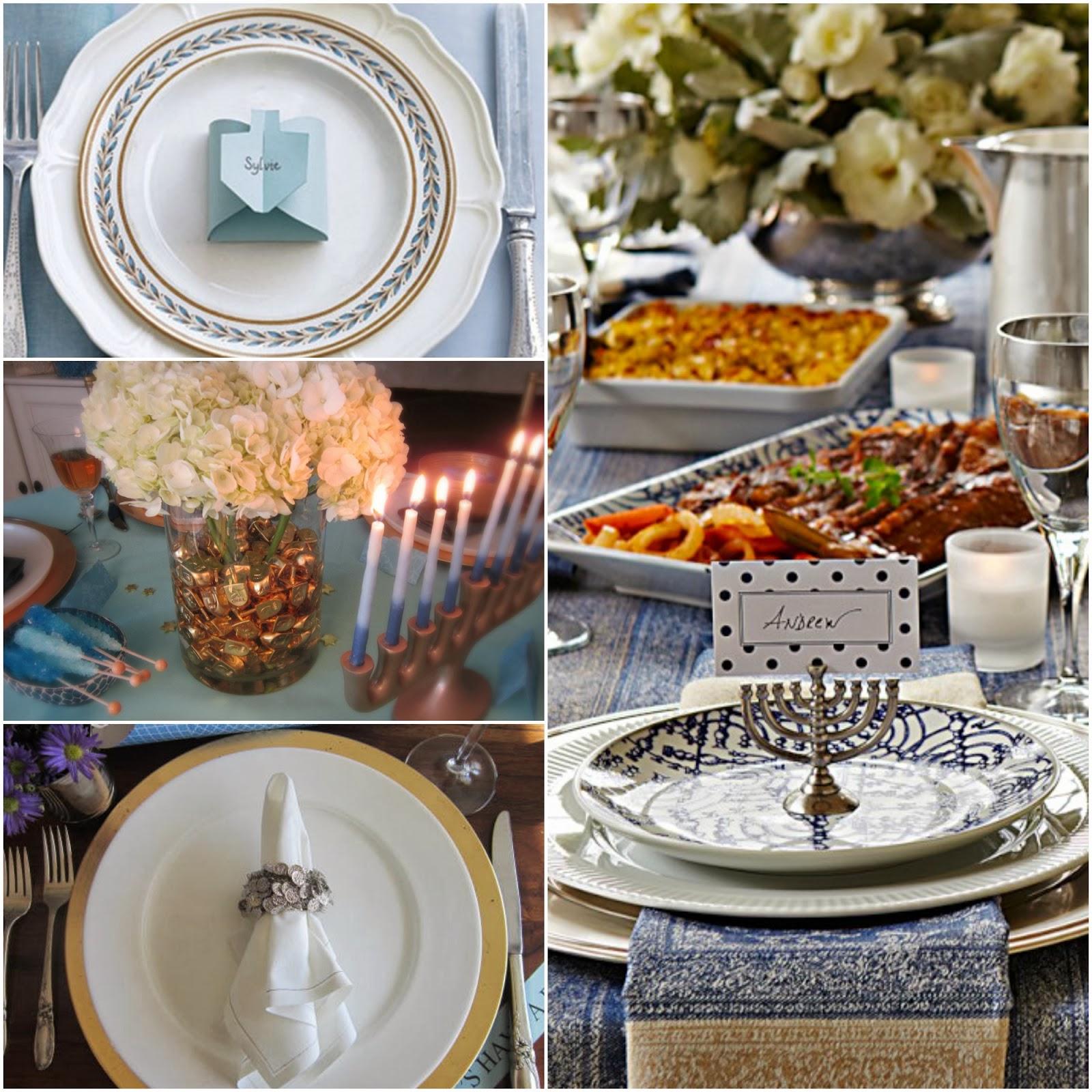 Design Megillah 12 Beautiful Chanukah Table Settings