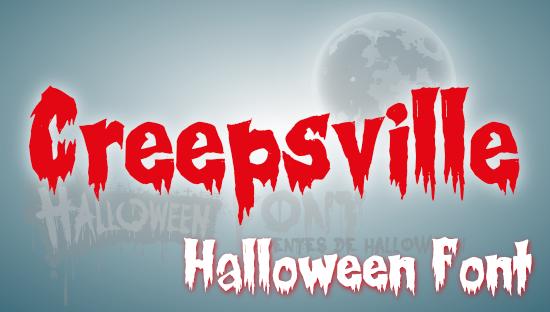 CREEPSVILLE Halloween Font