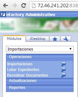 Módulo de Importaciones - eFactory ERP/CRM