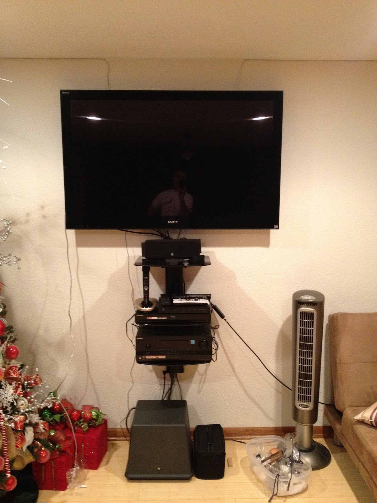 Project - How to Mount Black 3 Shelf Glass Wall Stereo System - eBay ...