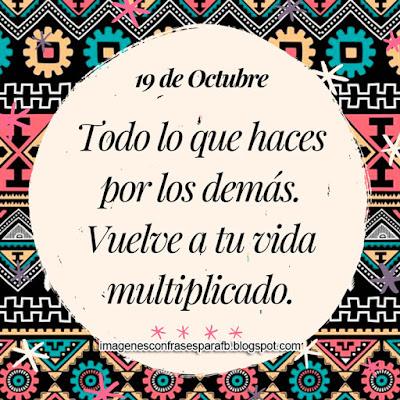 Frase del Día 19 de Octubre