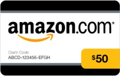 50 dollar Amazon Gift Card