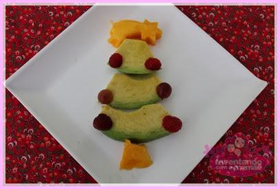 Comida Divertida de Natal árvore de natal de abacate