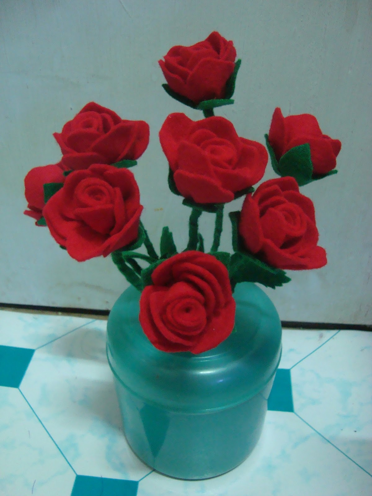 Airin Handicrabby Bunga Mawar Flanel Dan Matahari Tangkai