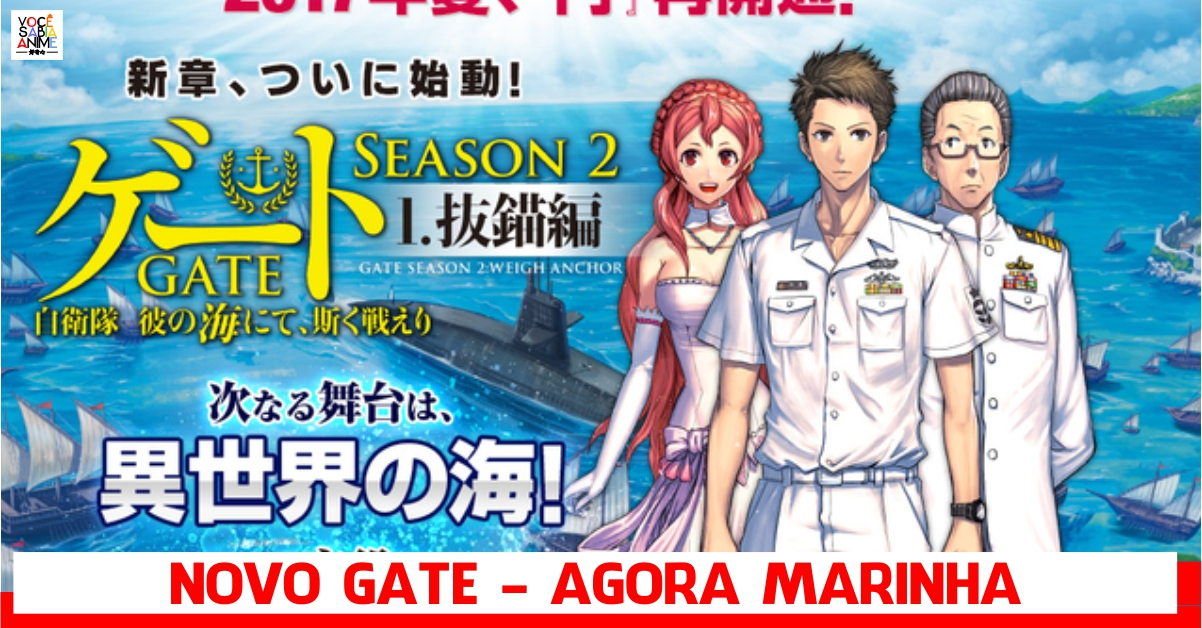 Light Novel de Gate tem segunda temporada com batalhas no mar!