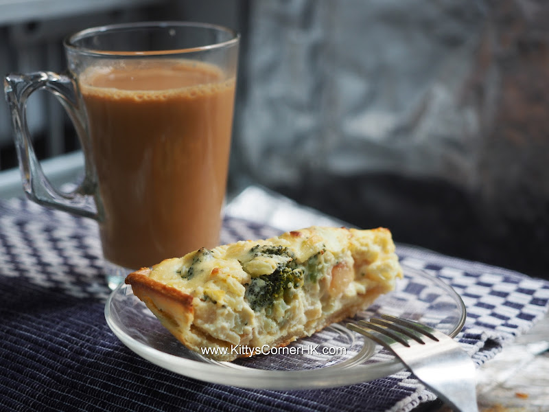 Broccoli and Apple Quiche DIY recipe 西蘭花蘋果批自家食譜