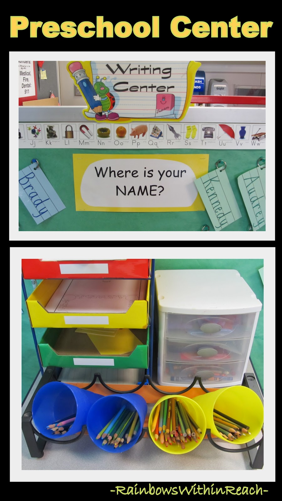 Preschool+Writing - Kindergarten Writing Center