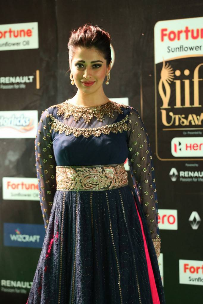 Indian Model Raai Laxmi At IIFA Awards 2017 In Blue Dress