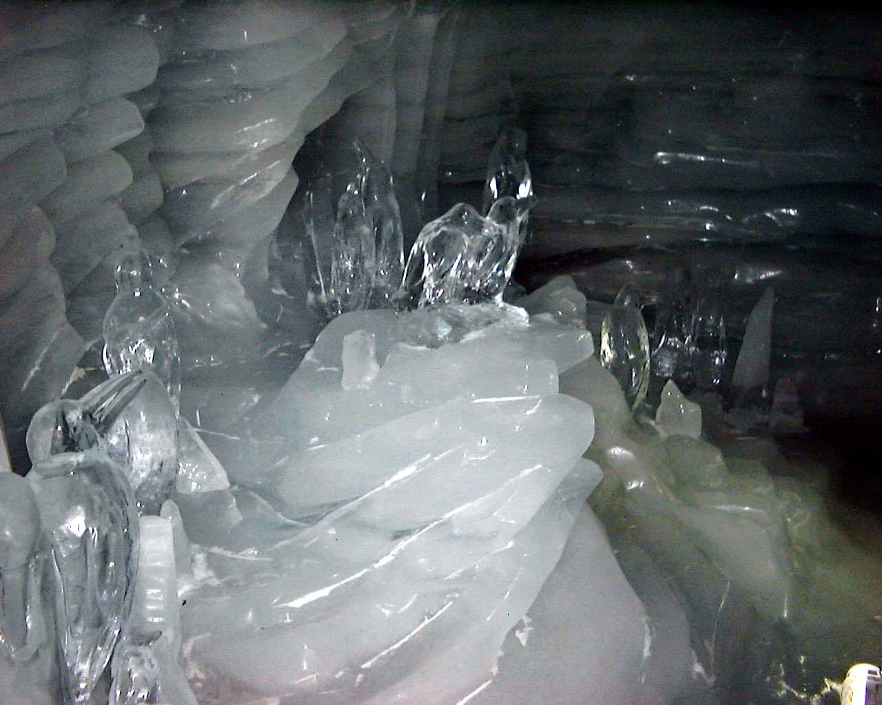Chicken Feathers: Ice caves