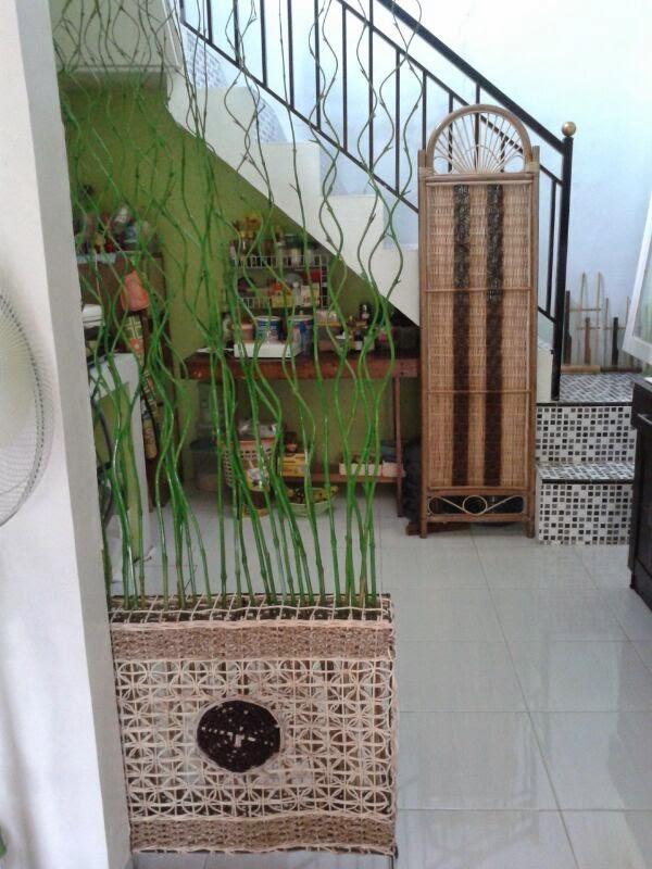 Pilihan Jitu Pembatas Ruang Tamu Dan Makan Dengan Bambu Ulir Warna