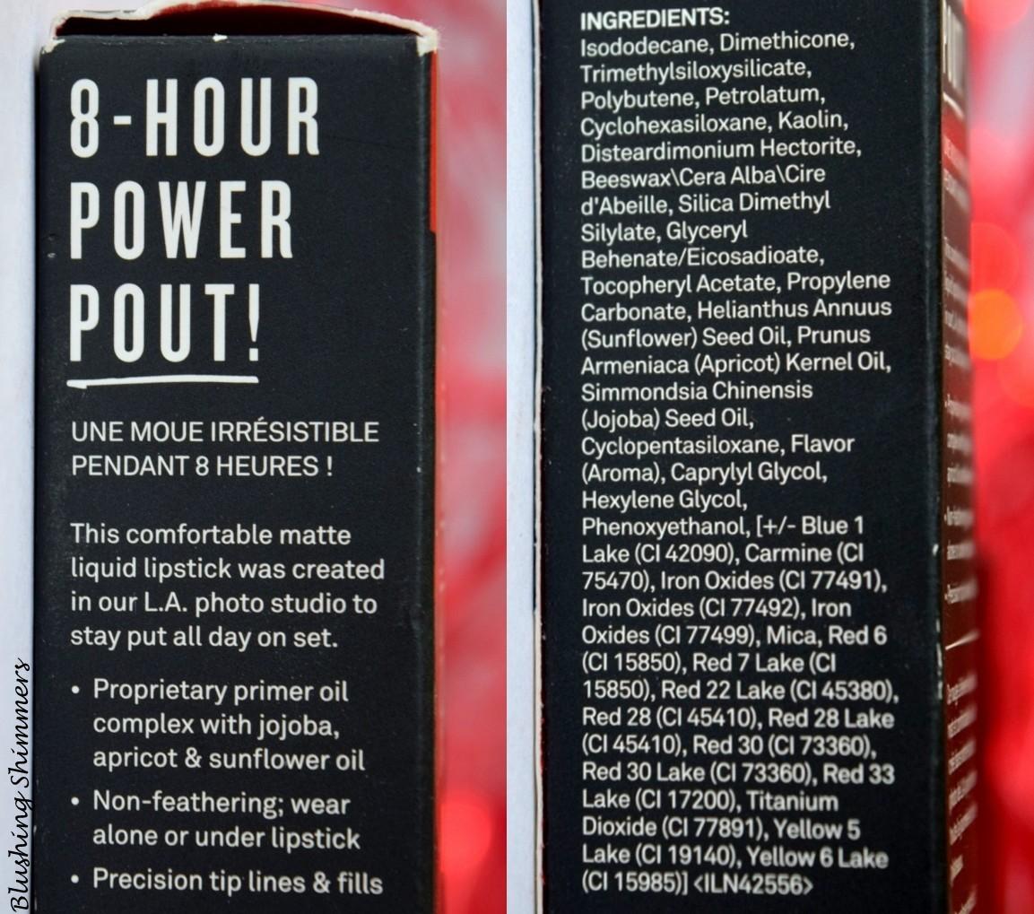 Smashbox Always On Liquid Lipstick 'Bawse' Ingredients