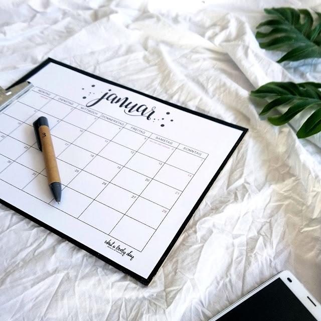 Monatskalender - 2019 - whatalovelday - Kalender - Free Printable - Familie - Planung - Schulanfang