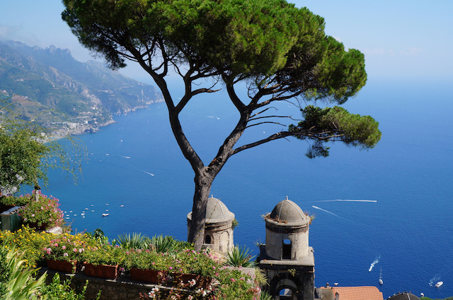 View from Villa Rufolo, Ravello, Amalfi coast