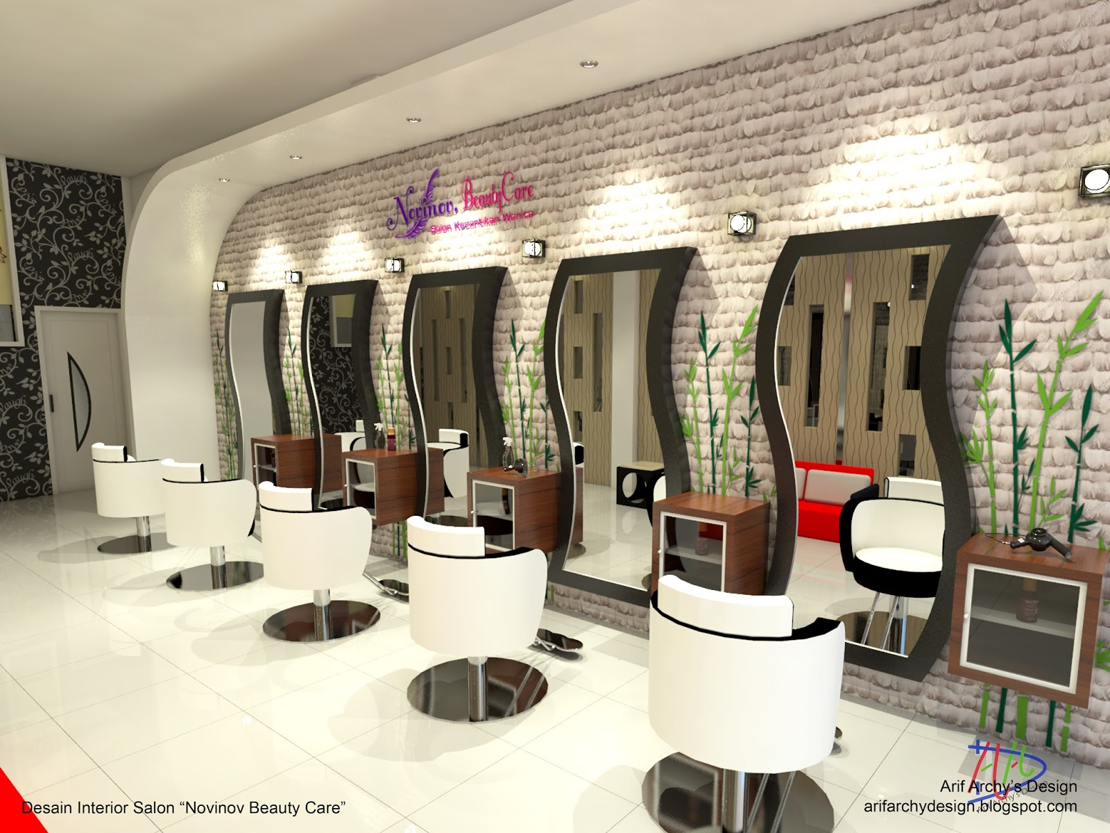 Desain Barbershop Dan Salon Kecantikan Wanita Sambas