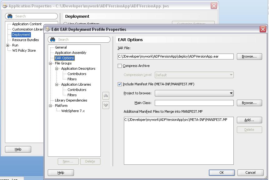 Andrej Baranovskij Blog: How to set EAR Version for ADF