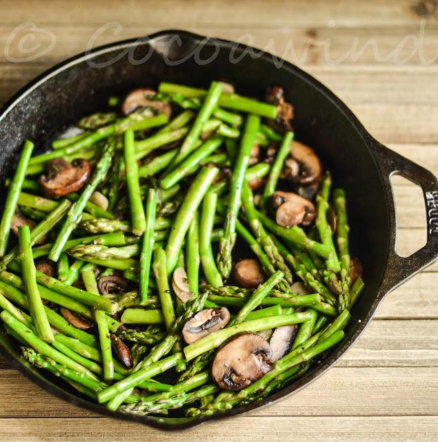 Pan Roasted Asparagus Mushroom - Cocoawind