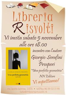 Incontro con Giorgio Serafini Prosperi, Libreria Risvolti