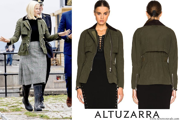 Crown Princess Mette-Marit wore ALTUZARRA Alize Jacket in Army