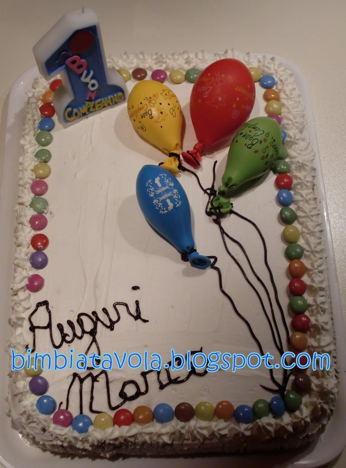 Bimbi A Tavola Un Anno Di Sorrisi Torta Primo Compleanno Palloncini