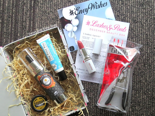 My Envy Box Lashes and Pouts December Beauty Box Unboxing