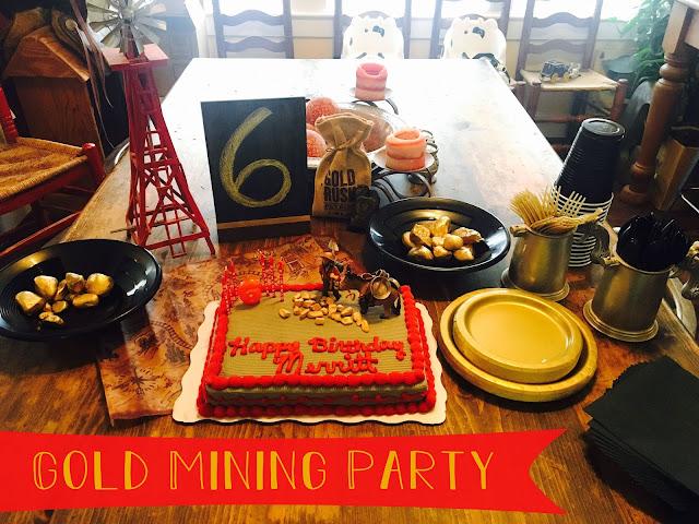 gold mining birthday
