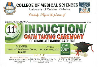 UNICAL Induction/Oath Taking Ceremony of Graduate Radiographers