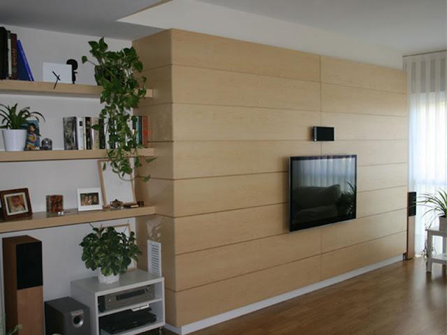 Revestimientos de pared de madera a medida espacios en madera - Paneles para forrar paredes ...