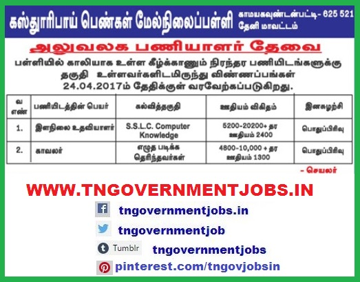 Secondary-School-Kamayagoundanpatti-theni-district-recruitment-notification-www-tngovernmentjobs-in