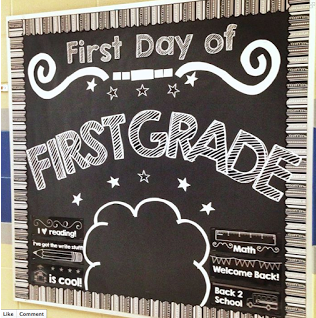 First Day Photo Booth bulletin board set for PreK-5th grade from Simply Kinder