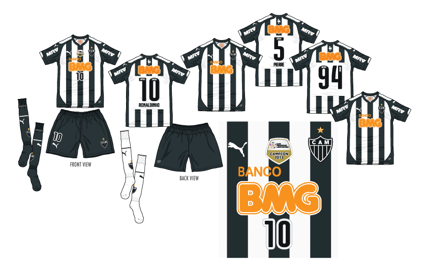 cf14de98e Completed worked for Atletico Mineiro 2014 Home kits. Next with the Gremio  1998 and 1999 home kits.