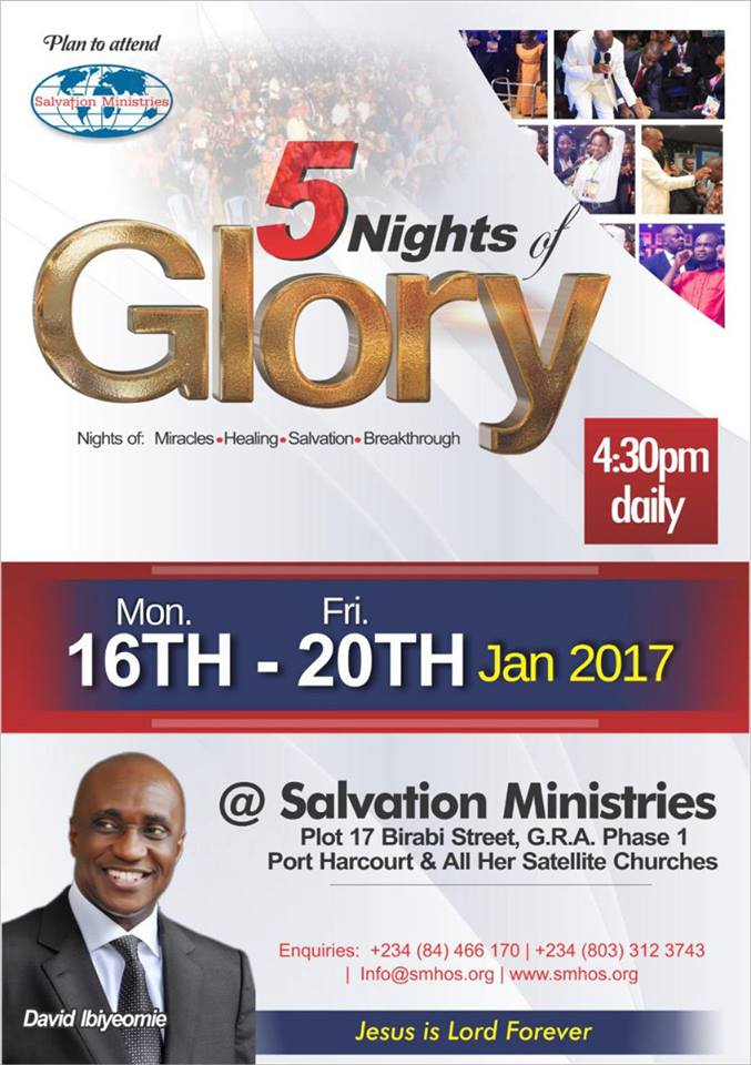 Salvation Ministries, 5 Nights Of Glory.