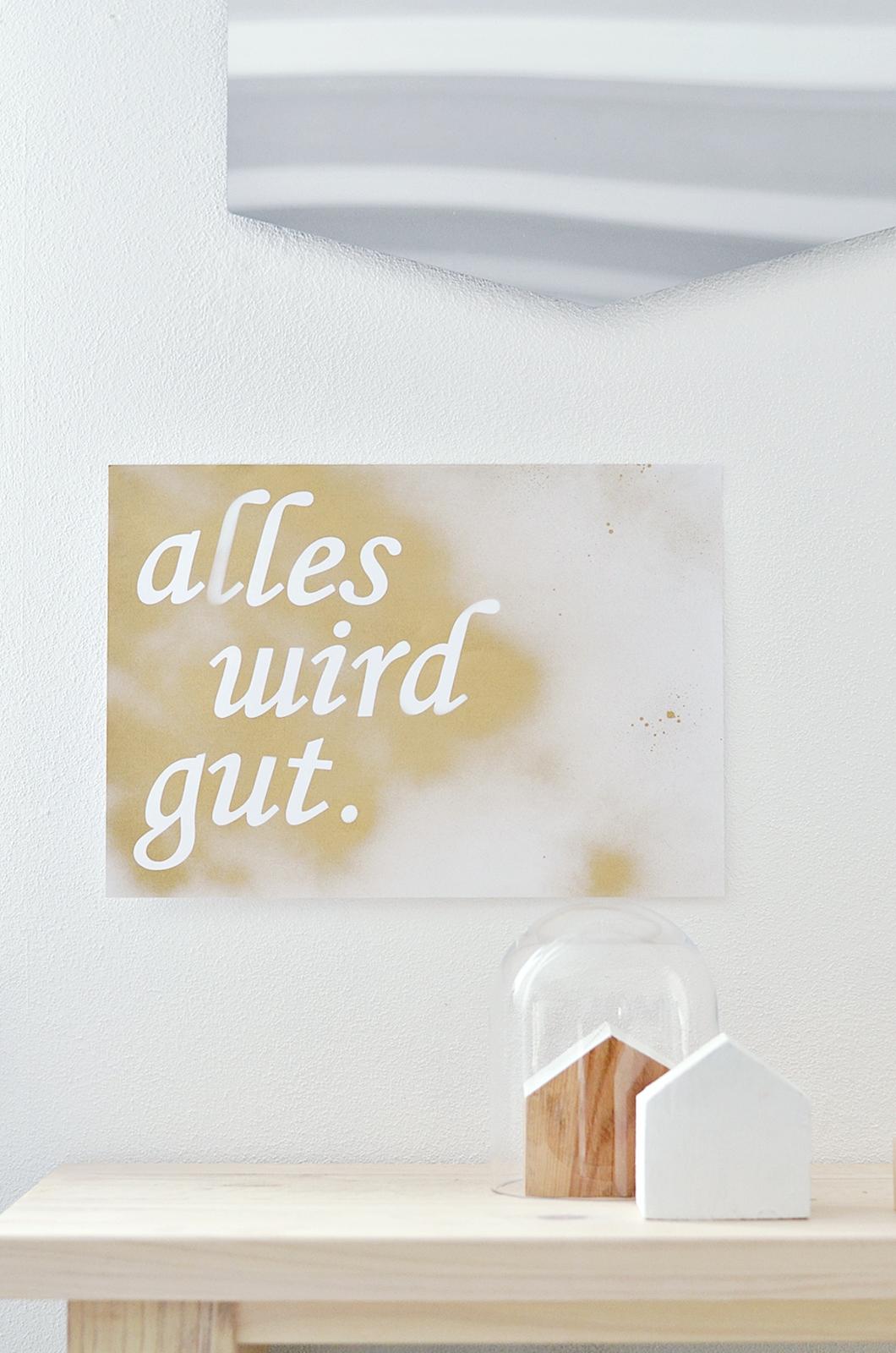 Wortkunst auf Leinwand zum Selbermachen