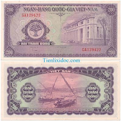 200 đồng việt nam cộng hòa 1955 lần 2