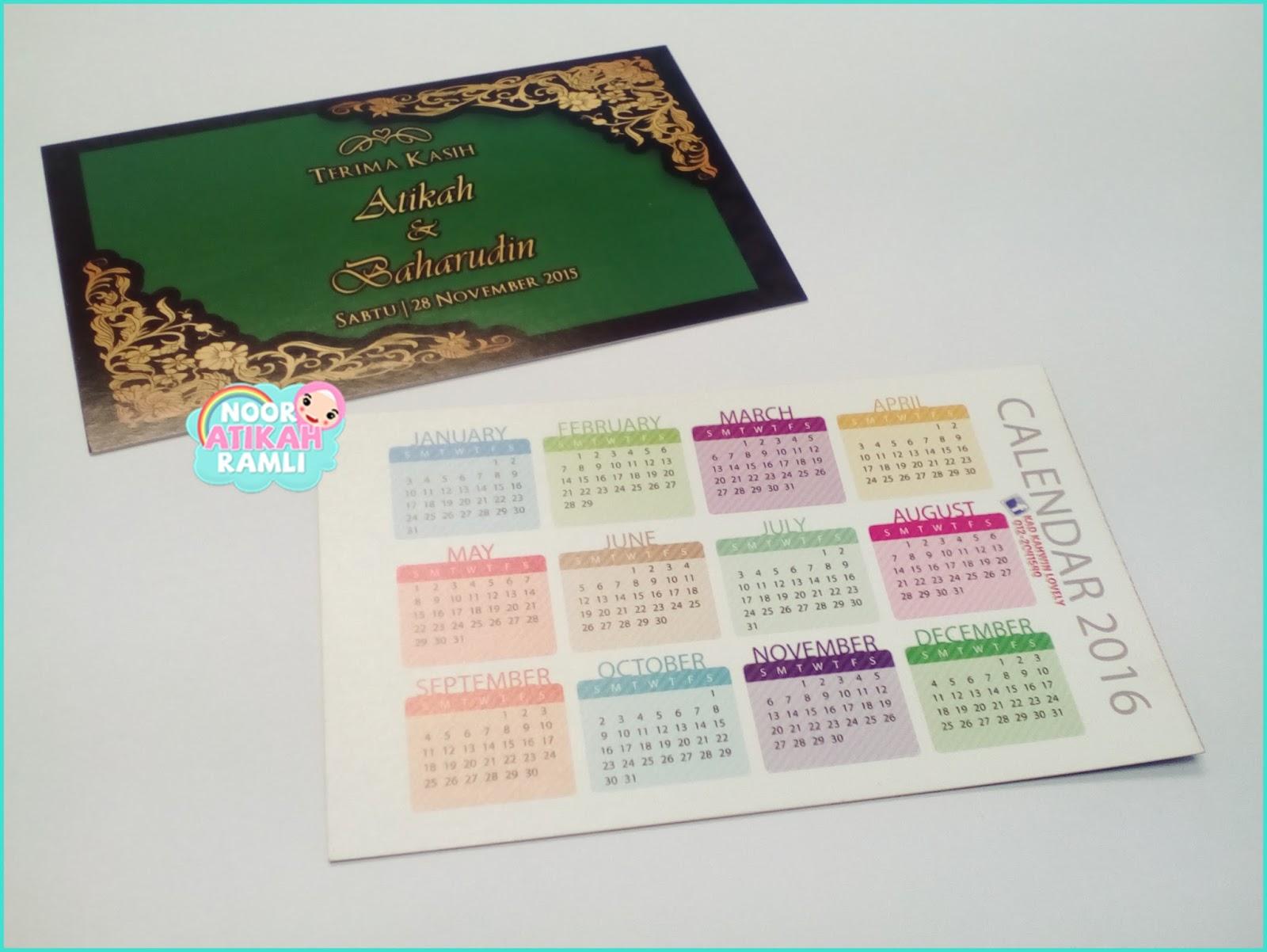 Calendar Pocket Kahwin Lootcoza Sitemap Kad Kahwin By Kad Kahwin Lovely Aandb Big Day Noor