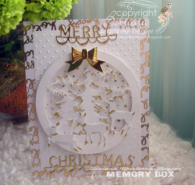 christmas eve card in white