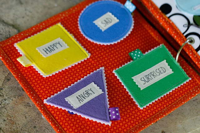Quiet book for Lennox, Handmade busy book by TomToy, Shapes